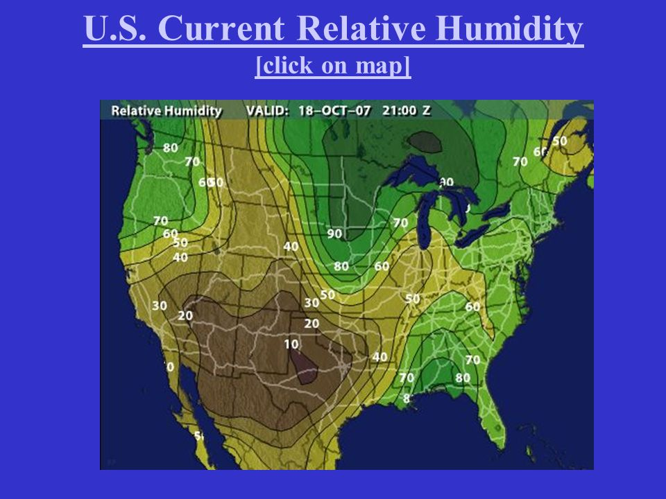 Water And Atmospheric Moisture Ppt Video Online Download - Humidity map of us